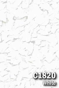 Epoxy Floor Chips - White